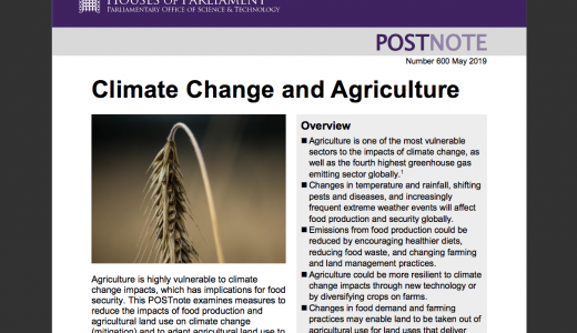 POSTnote - Climate Change & Agriculture