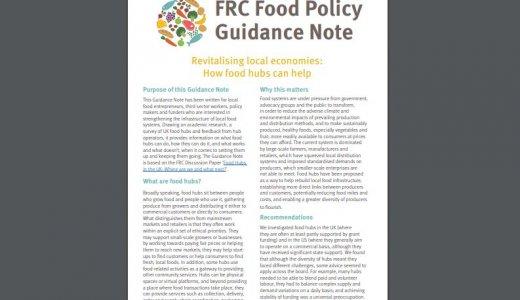 Revitalising Local Economies: How food hubs can help