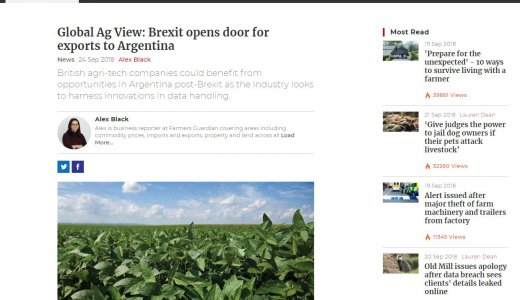 Global Ag View: Brexit opens door for exports to Argentina