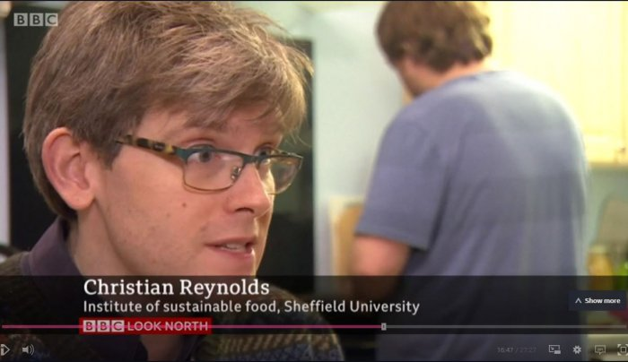 """BBC news programme features N8 AgriFood's Christian Reynolds as """"the man with the climate change calculator"""""""